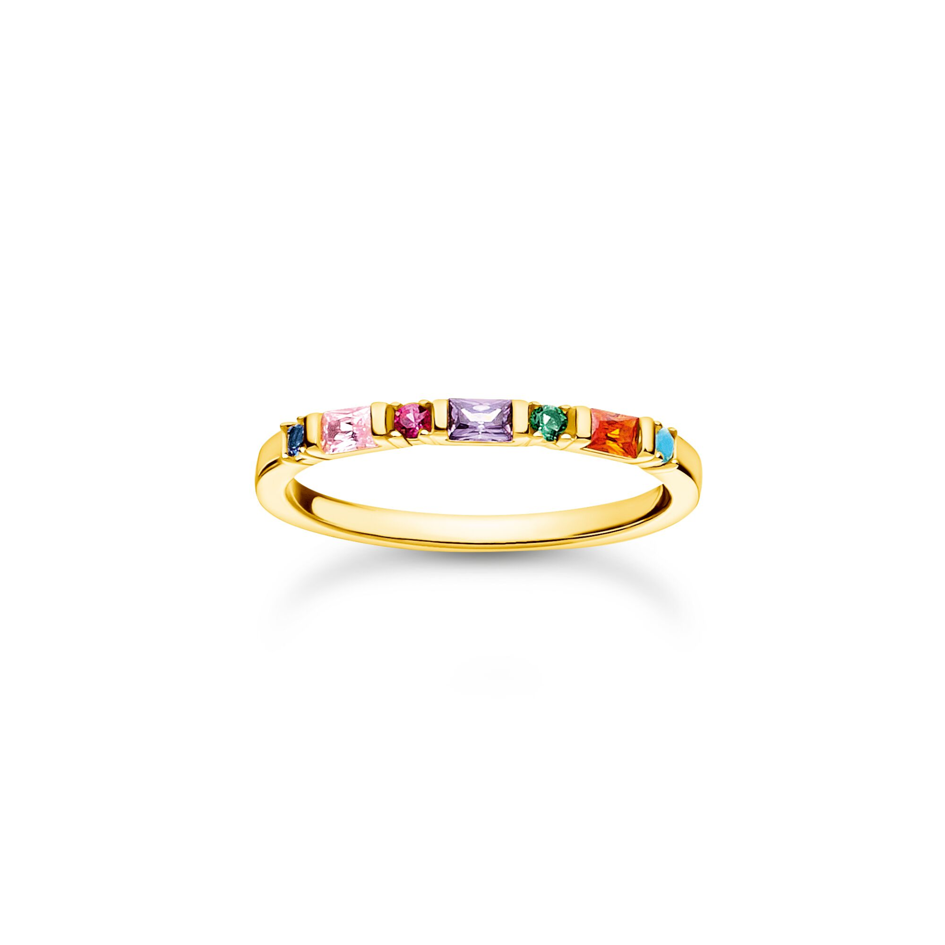 Bague pierres colorées er or, Thomas Sabo