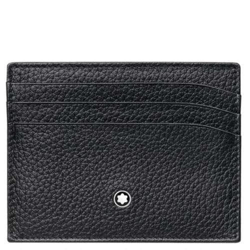 Porte-cartes 6 cc cuir noir, Meisterstück Soft Grain, Montblanc