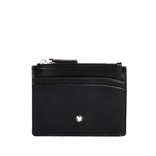 Porte-cartes 4 cc cuir noir et zip, Meisterstück, Montblanc