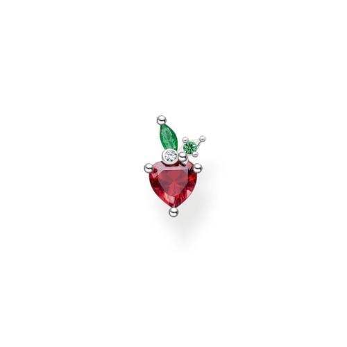 Clou d'oreille unique fraise argent, Thomas Sabo