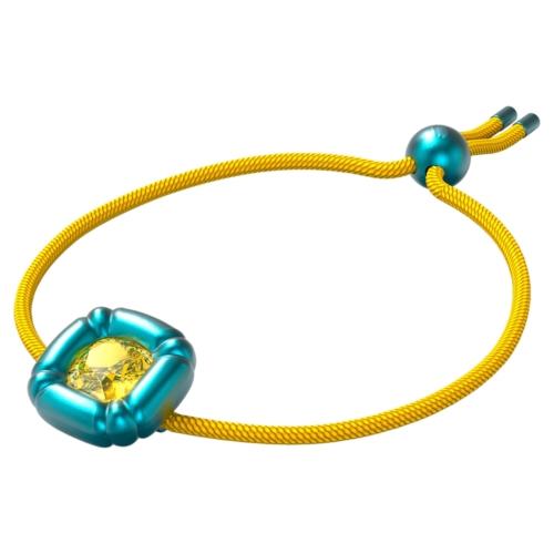 Bracelet Dulcis Cristal taille coussin, Bleu, Swarovski