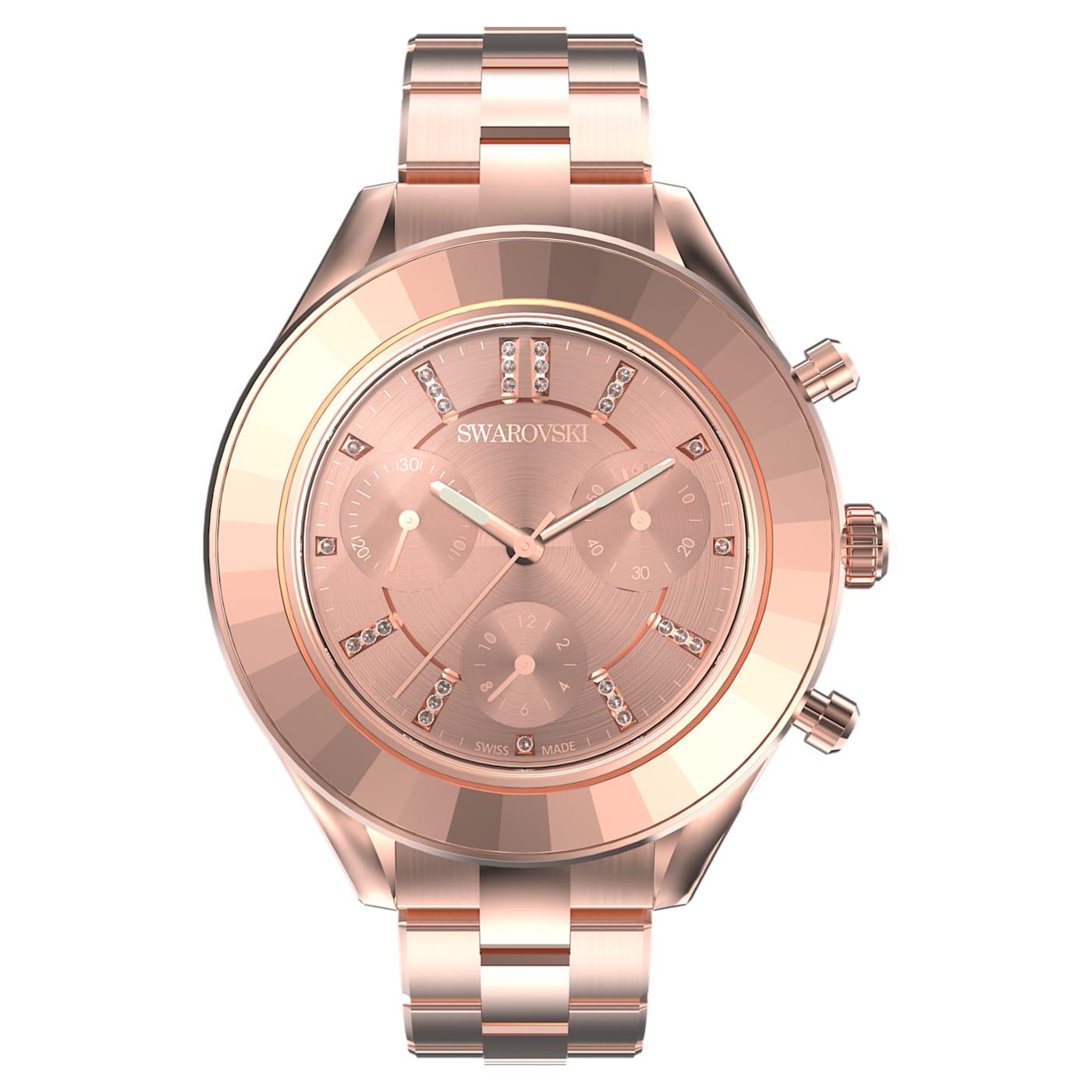 Montre Octea Lux Sport Bracelet en métal, Ton or rose, PVD doré rose, Swarovski