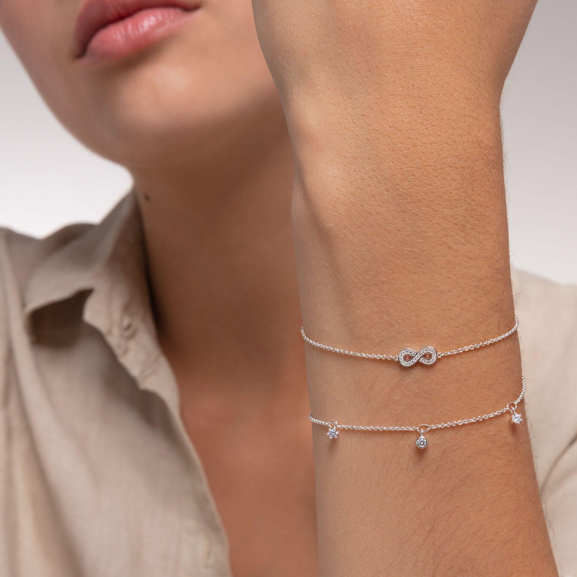 Bracelet pierres blanches argent, Thomas Sabo