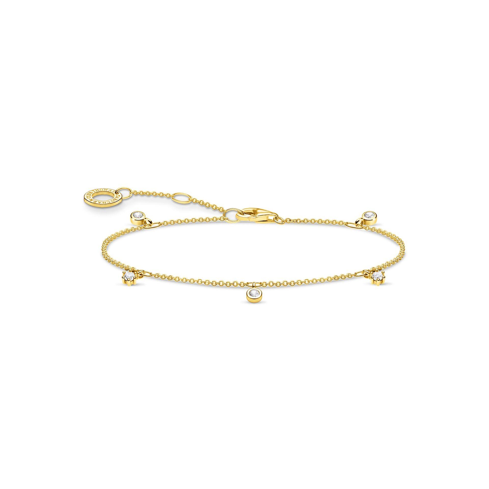 Bracelet blanche pierres or, Thomas Sabo