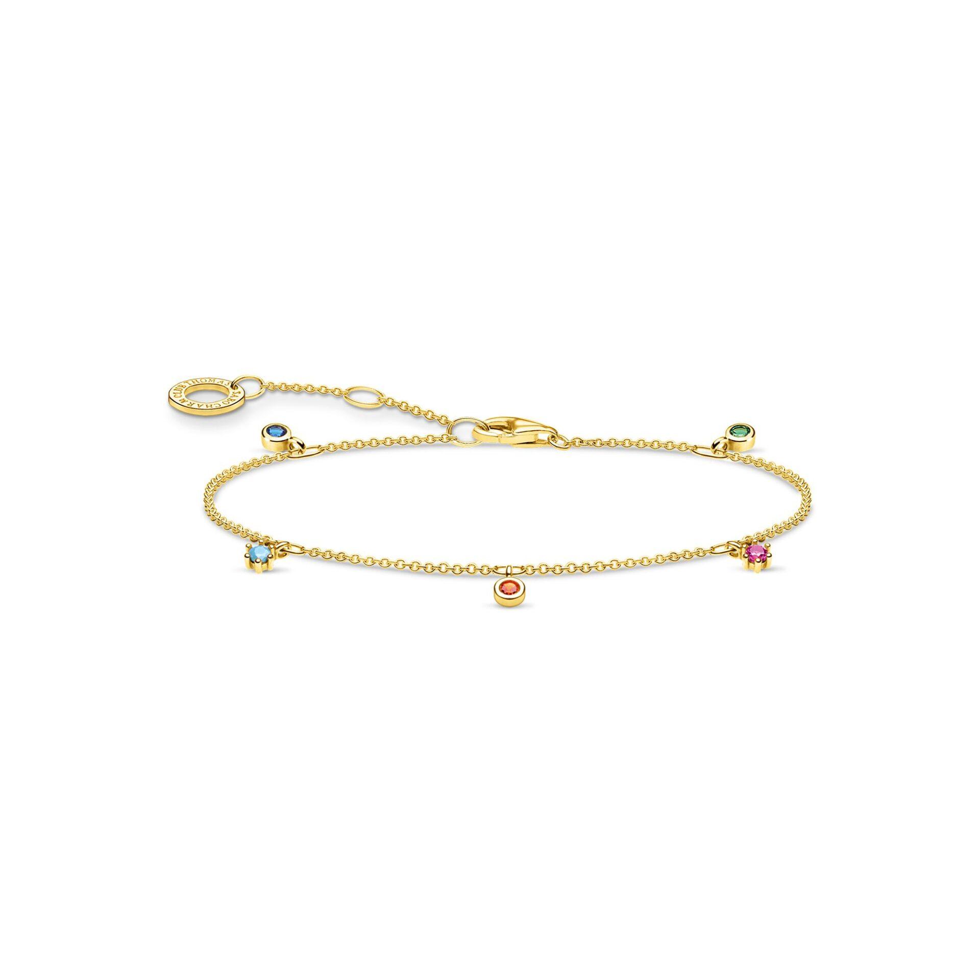 Bracelet pierres colorées or, Thomas Sabo