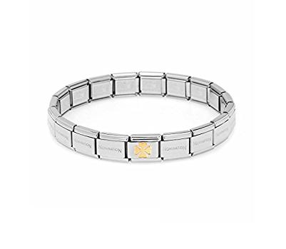 Bracelet Composable Classic, Trèfle à quatre feuilles, Nomination